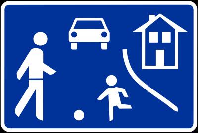 """Verkehrsschild """"Verkehrsberuhigter Bereich"""""""